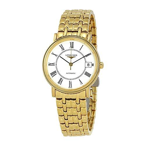 Longines Les Grandes Classiques Presence L4.821.2.11.8 Yellow Gold PVD Automatic Transparent Case Back Men's Watch