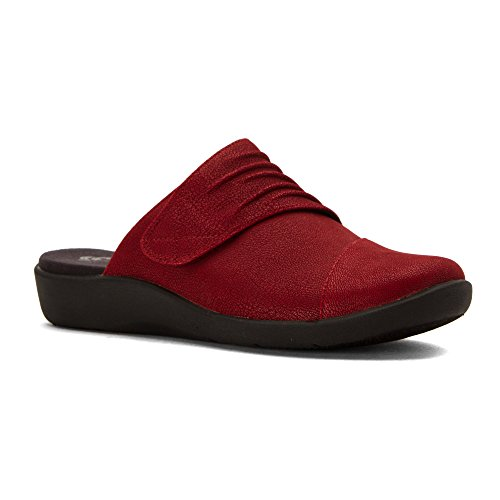 quality from china cheap clearance factory outlet CLARKS Women's Sillian Rhodes Mule Cherry Synthetic Nubuck outlet eastbay sale low shipping fee KfxyoJ