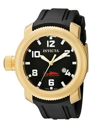 Invicta Men's 1545 Sea Hunter Black Dial Rubber Watch