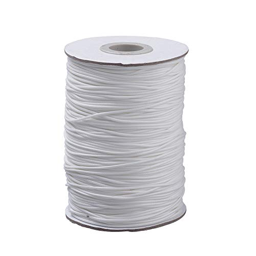 - Craftdady 50 Yards 3mm Waxed Polyester Cord Macrame Bracelet Necklace Jewelry Making Waxed Beading Thread String (White)