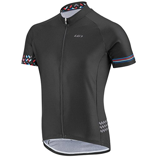 Louis Garneau 2016 Men's Equipe GT Short Sleeve Cycling Jersey - 6820807 (Black/curacao blue - - Cycling Jersey Short Sleeve Equipe