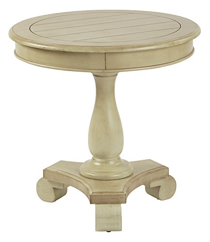 Inspired by Bassett Avalon Hand Painted Round Accent Table, Antique Celadon