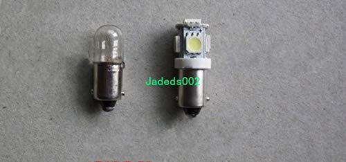 5pcs DC12V//24V 2.5W LED BA9S T10 bayonet light BA9S bulb Machine detection bulb