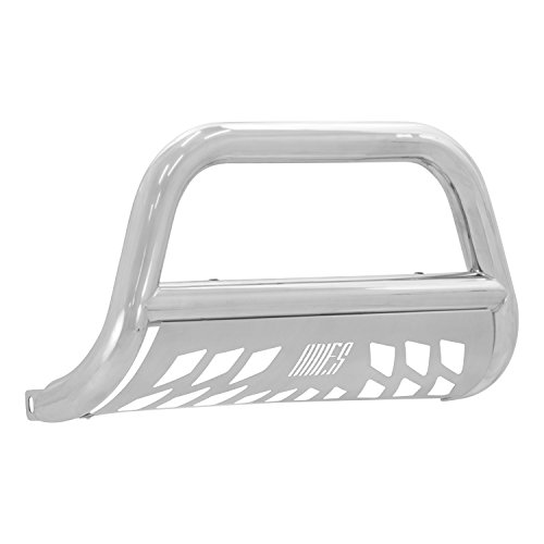 Aries 35-3007 Stainless Steel Bull Bar with Skid Plate (Steel Drill Ford Stainless)