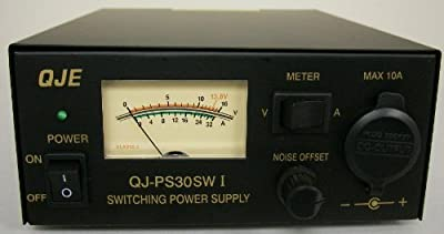 Regulated 30 Amp Compact Power Supply 13.8Vdc w/ Volt - Amp Meter! by QJE