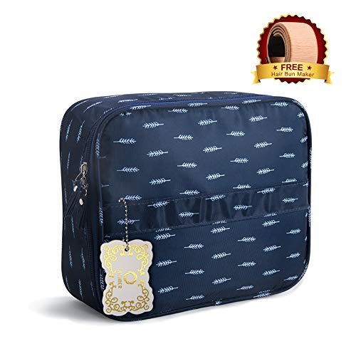 76e5b231fe Travel Makeup Bag Train Case Cosmetic Bags Adjustable