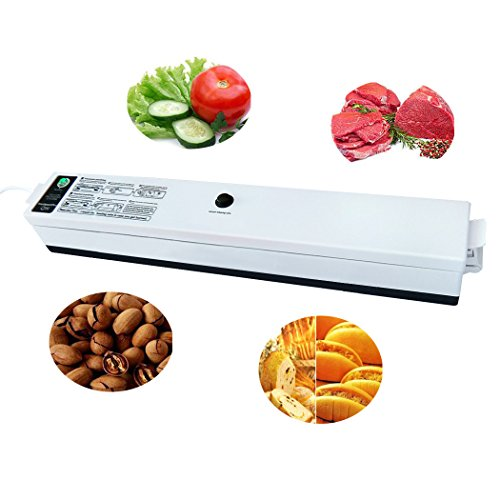 Vacuum Sealer Machine,TOOC Automatic Vacuum Sealing System for Food Meat Vacuum Sealer Packing Machine Home Small Compact Design Vacuum Packing System in The Kitchen Simple and Convenient,Black