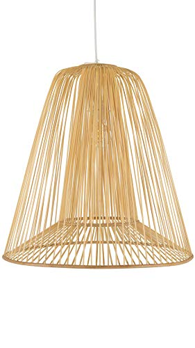 Kouboo 1050109 Bamboo Double Cone Pendant, Natural, Large Ceiling Lamp ()