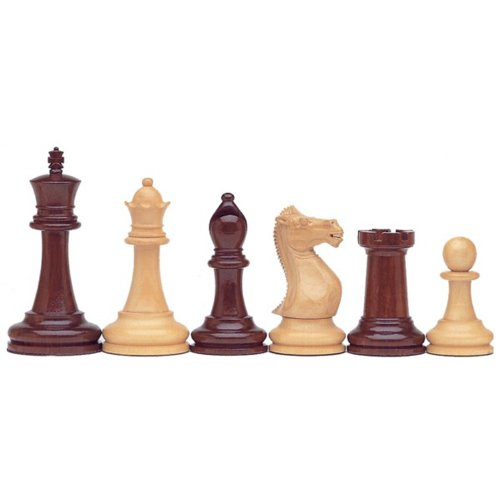 WE Games Deluxe Staunton Chessmen - Triple Weighted & Handpolished Rosewood with 4 in. King by Wood Expressions