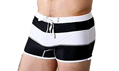 Koson-Man Men's Sports Soft Fashionable Lace-up Swimming Underwear Strips Trunks