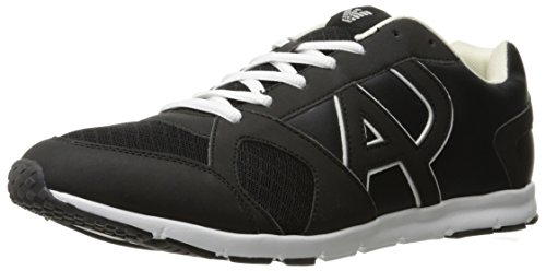 ARMANI JEANS Mens Classic AJ Logo Fashion Sneaker Black