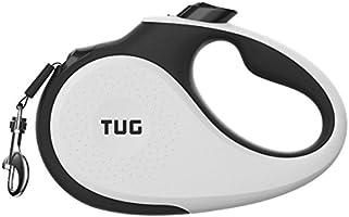 TUG 360° Tangle-Free, Heavy Duty Retractable Dog Leash with Anti-Slip Handle; Strong Nylon Tape/Ribbon; One-Handed Brake,...