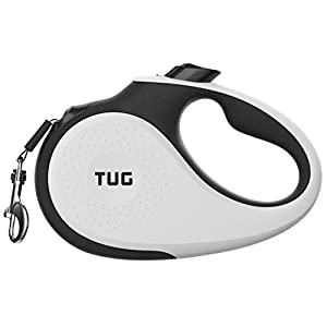 TUG Patented 360° Tangle-Free, Heavy Duty Retractable Dog Leash with Anti-Slip Handle; 16 ft Strong Nylon Tape/Ribbon; One-Handed Brake, Pause, Lock 23