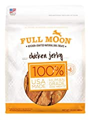 Full Moon Chicken Jerky is made from USDA-certified, all natural, sliced whole muscle chicken breast from family farms right here in the USA. Each piece is slow cooked in our ovens to bring out the rich, hearty flavors your dog loves.  Direct...