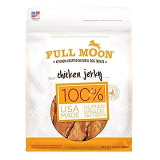 Full Moon All Natural Human Grade Dog Treats, Chicken Jerky, 24 Ounce