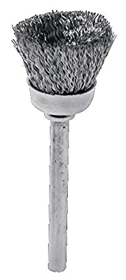 """SE CMS1000SP 3/4"""" Stainless Steel Wire Cup Box Brush (36 Piece)"""