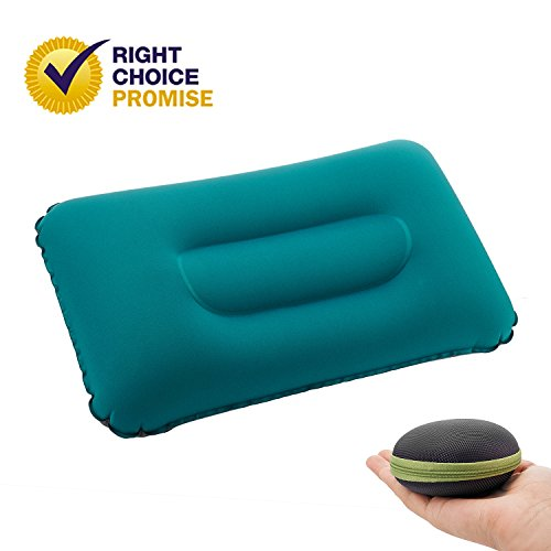 Camping Inflatable Pillow Portable Outdoor Compressible Ultralight Air Pillow Neck and Lumbar Support for Outdoor Hiking Travel Backpacking Airplane Car Office