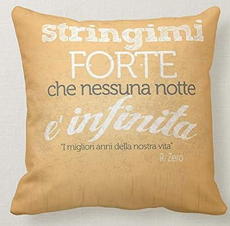 Pillow Pillow Cuscino Personalizzato 40x40 Frase Tributo Renato