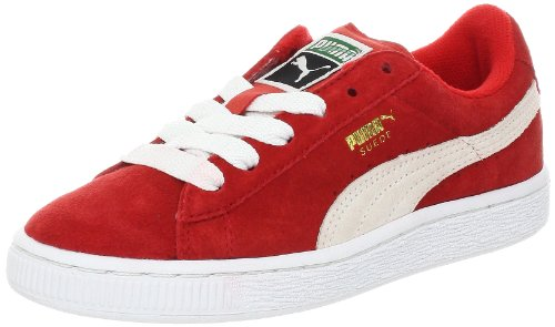 Puma Suede , Boys' High-Top Trainers, Red White, 1.5 M US Little Kid