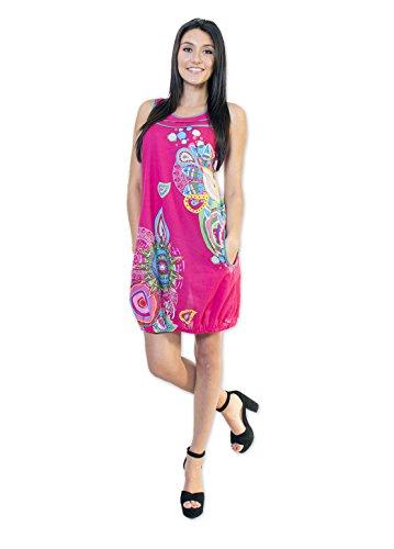 Coton Du Monde-ALTHEA, vestido color rosa Multicolor
