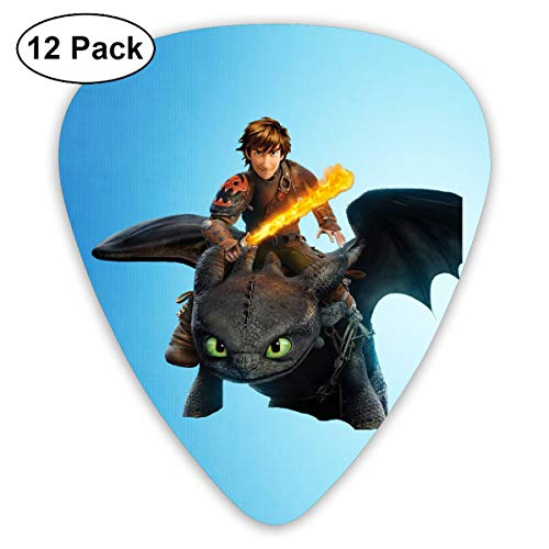 ElijahO How to Train Your Dragon Celluloid Guitar Picks Plectrums (12 Pack) for Electric Guitar, Acoustic Guitar, Mandolin, and Guitar Bass]()