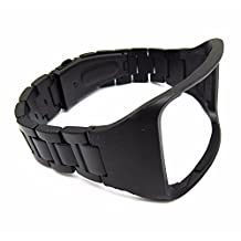 Black Stainless Steel Replacement Bracelet Wristband For Samsung Galaxy Gear S SM-R750 Watch Band Strap with Pin Tool