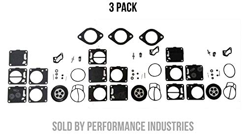 Polaris Triple Carb kit with base Gaskets Carburetor 3240128 SL SLT SLX 650 750 780 slt
