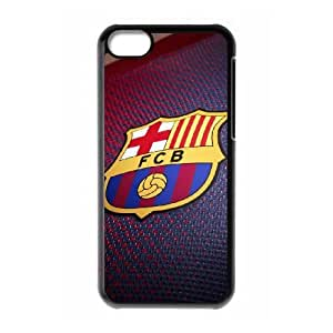 iPhone 5c Cell Phone Case Black FC Barcelona Shirt Scpdf