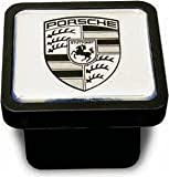 Genuine OEM Porsche Cayenne Trailer Hitch Cover -Black on Silver