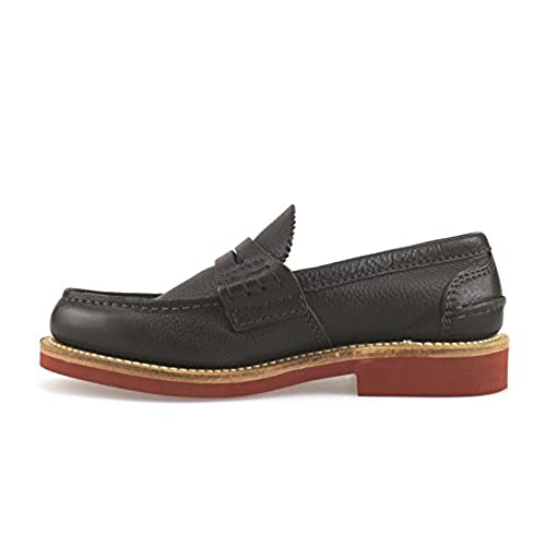 Moccasins Slip-On 6 US/39 EU Brown Leather