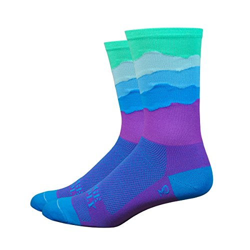 DeFeet AirEator 6in Skyline Mist Edition Ridge Supply Collection Cycling/Running Socks
