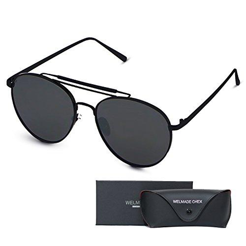 Aviator Full Silver Mirror Metal Frame Sunglasses GOLD ...
