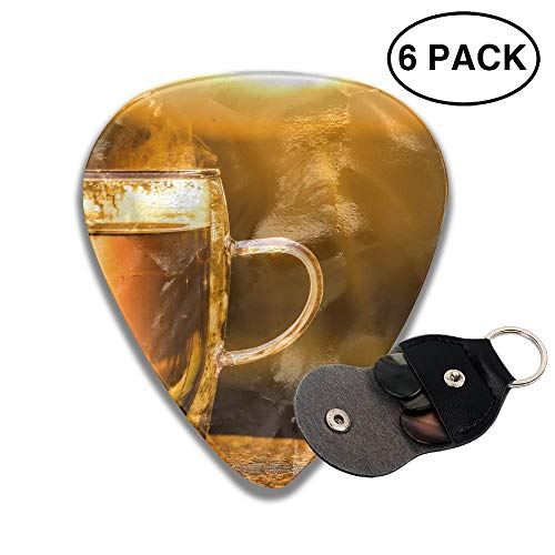 Colby Keats Guitar Picks Plectrums Cup of Tea Drink Classic Electric Celluloid Acoustic for Bass Mandolin Ukulele 6 Pack 3 Sizes .96mm -