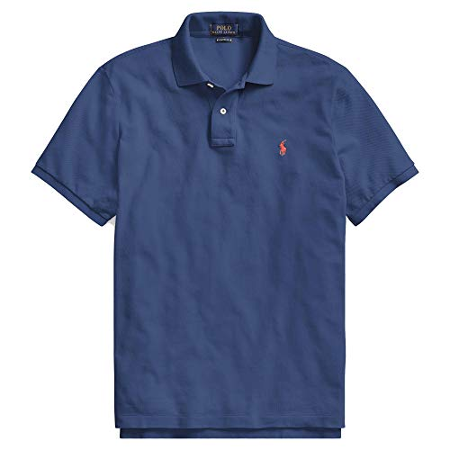 (Polo Ralph Lauren Polo Shirt Men's Big and Tall Pique Cotton Polo Shirt (1X Big, LiteNavy))