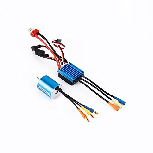 Sensorless Brushless Motor 2430 7200KV 4P with 25A Brushless ESC Sensorless Brushless Motor for 1/16 1/18 RC Off-Road Car Boat (Rc Boat Motors compare prices)