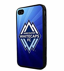 diy zhengSoccer MLS VANCOUVER WHITECAPS FC SOCCER CLUB Logo, Cool Ipod Touch 5 5th / Smartphone iphone Case Cover Collector iphone TPU Rubber Case Black