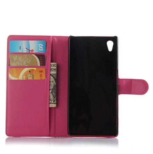 Funda Sony Xperia Z5,Manyip Caja del teléfono del cuero,Protector de Pantalla de Slim Case Estilo Billetera con Ranuras para Tarjetas, Soporte Plegable, Cierre Magnético G