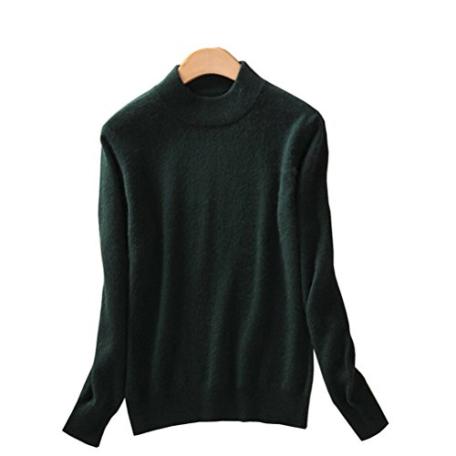 Always Pretty Womens Slim Mock Neck Wool Knit Jumper Sweater Tops Pullover