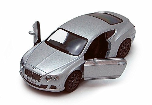 Kinsmart 2012 Bentley Continental GT Speed, Silver 5369D - 1/38 scale Diecast Model Toy Car, but NO BOX