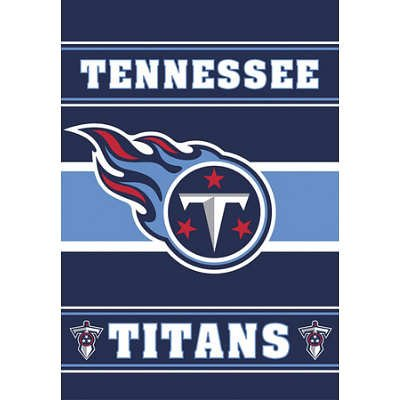 ((28x40) NFL Tennessee Titans 2-Sided House Banner Flag Wall Scroll )