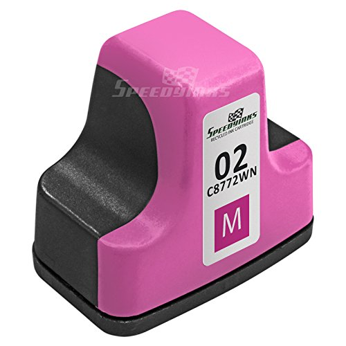 Speedy Inks - Remanufactured Replacement for HP 02 C8772WN HP02 Magenta Ink Cartridge