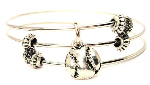 Softball Wire - Baseball/softball Expandable Triple Wire Adjustable Bracelet