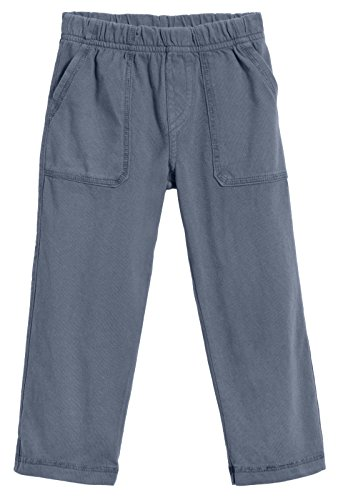 City Threads Big Boys' and Girls' Soft Jersey Tonal Stitch Pant Perfect for Sensitive Skin SPD Sensory Friendly Clothing - Concrete, 5