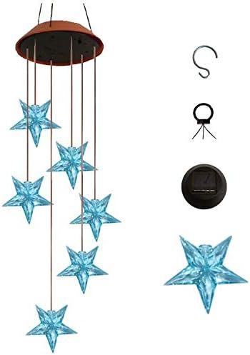 TriLance Carillon Solaire LED Changement de Couleur Suspension LED Carillon de Vent Solaire Int/érieure et Ext/érieure pour D/écoration de Jardin//F/ête Patio etc Carillons /Éoliens Solaires