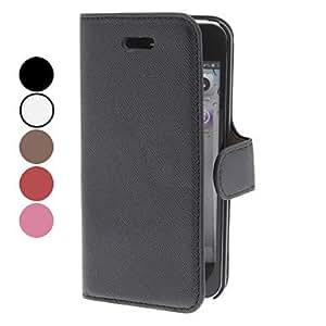 Conseguir Diseño simple pu estuche de cuero con soporte para el iphone 5/5s , Rojo