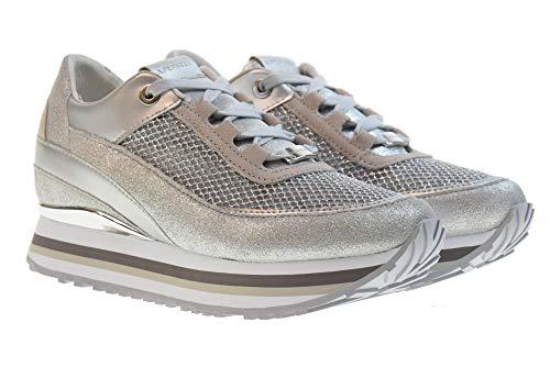Scarpe Apepazza Rsd27 Sneakers glitternet Con Robin Zeppa Interna Donna Argento Basse HqqCdwU