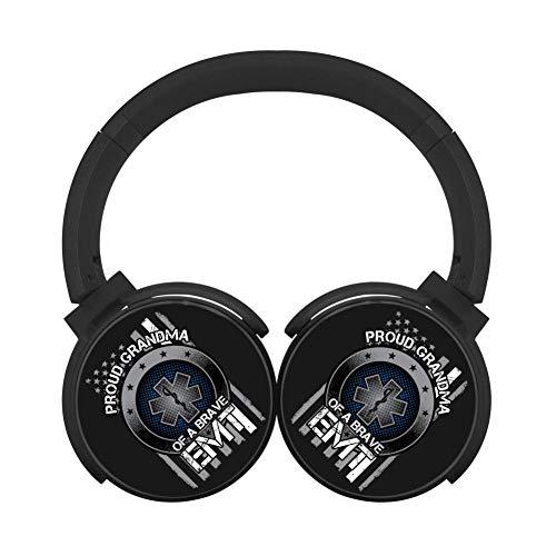 MagicQ Proud Grandma of A Brave EMT Bluetooth Headphones,Hi-Fi Stereo Earphones Black (Bravo Headphones Earphones)