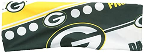 NFL Green Bay Packers Stretch Headband, White (Green Bay Packers Hat Scarf)