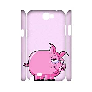 Cute Piggy Unique Design 3D Cover Case for Samsung Galaxy Note 2 N7100,custom cover case ygtg-794453