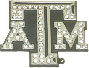 Premium Crystal Texas A&M Auto Emblem